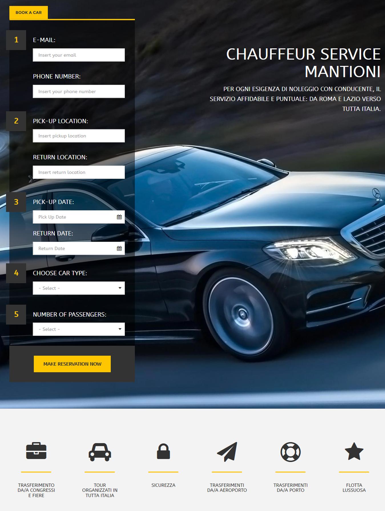 Chauffeur Service Mantioni